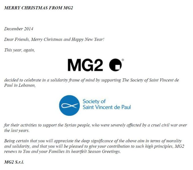 MERRY CHRISTMAS FROM MG2